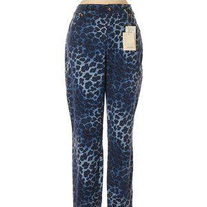 Escada Blue Animal Print All-Season Stretch Pants